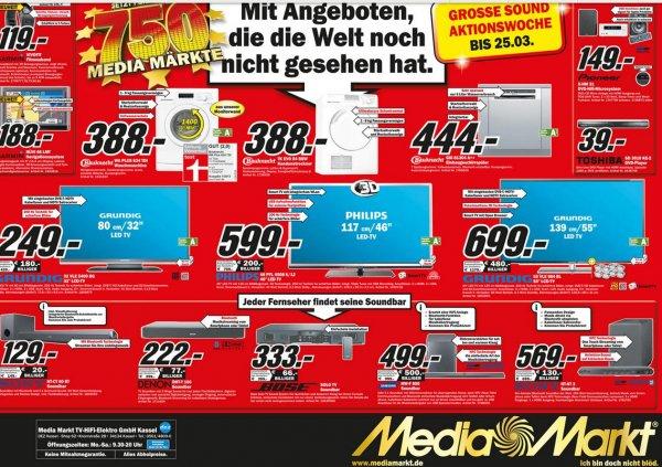 """3D TV Grundig 55"""" VLE 984 699€ Lokal [Mediamarkt Kassel] Passiv 3D"""