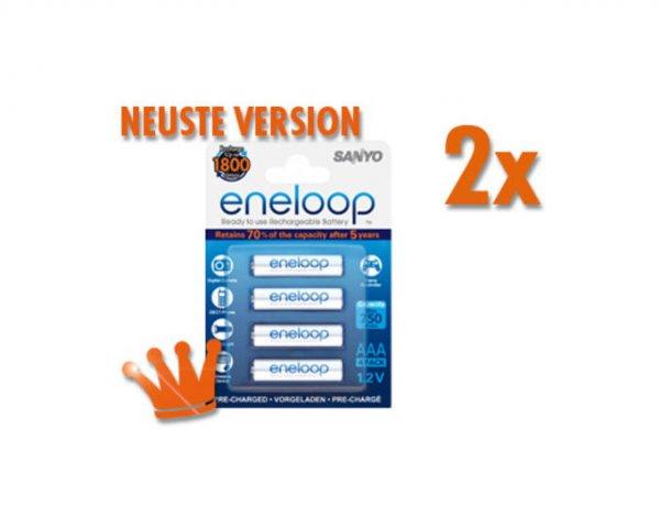 (MeinPaket) 16 x Sanyo eneloop Akku NiMH Micro AAA 800mAh HR4-UTGB neuste Version für 22,99€