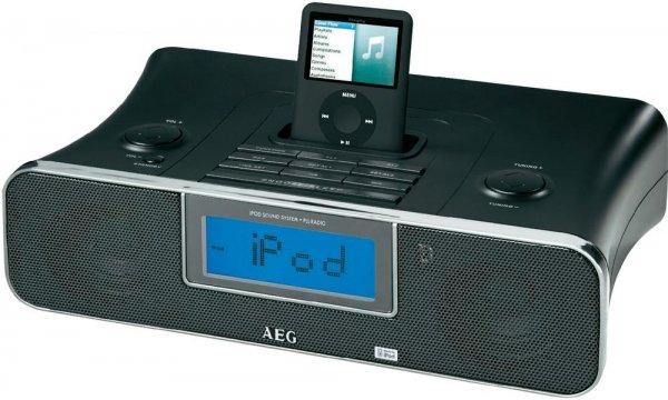 AEG Stereo Uhrenradio Schwarz SRC 4321 für 14,99€ @digitalo - Einfaches Lautsprecherdock (Dock-Connector) mit Weckfunktion