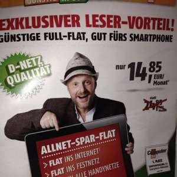 Klarmobil Flat ins Fest-& Handynetz,  SMS und 500MB im D-Netz
