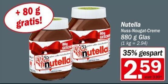 [HIT] Nutella 880g