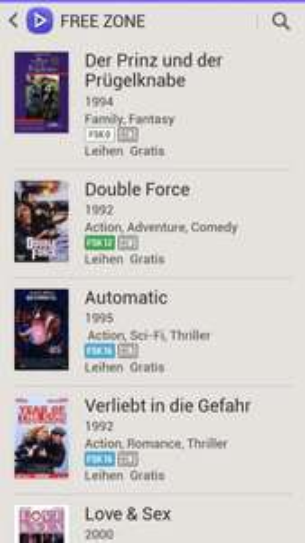 Samsung Video Hub - Free Zone - mehrere Filme kostenlos leihen