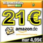 [klarmobil] 21€ Amazon-Gutschein für 5€ SIM-Karte mit geringem Aufwand