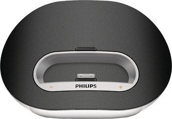 Philips DS3120/12 Dockingsystem für iPod/iPhone (12 W, USB-Host, MP3-Link, Equalizer, Wecker-,Internetradio-App)  für 39,99€ @ ZackZack