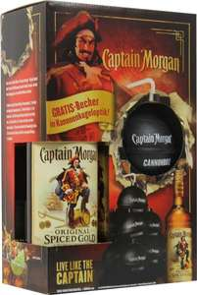 [Real] Captain Morgan + Gratis Becher in Kanonenkugeloptik
