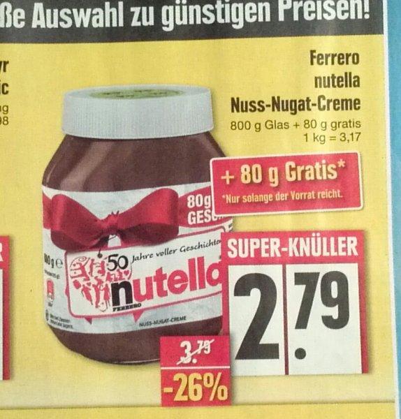 Nutella 880g bei Edeka lokal?