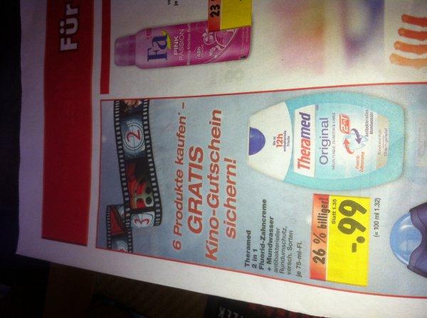 [Kaufland] 6x Fa oder Theramed kaufen und 1 Kinogutschein per Post erhalten
