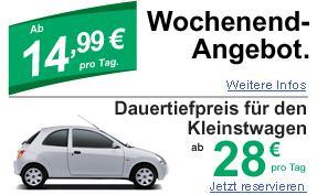 enterprise | Mietwagen -> Wochenende für 44,97€ (Fr - Mo) für Fahrer ab 25 (Kleinstwagen)