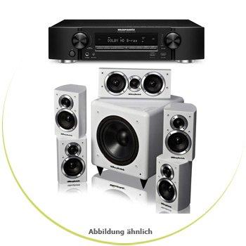 Marantz NR1504[Schwarz] und Wharfedale Moviestar DX-1 HCP[Weiß] Ersparnis 139 Euro