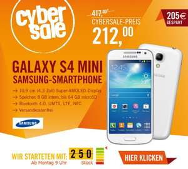 [CyberSale] Samsung GALAXY S4 mini i9195 8GB white