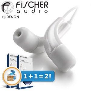 [iBOOD] DENON Fischer Audio Keramik - In Ear Kopfhörer mit Fernbedienung und Mikrofon als Duopack in weiß für 45,90€