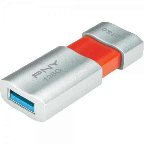 128 GB PNY Wave Attache™ Silber USB 3.0 Stick für 43,29€ @Conrad