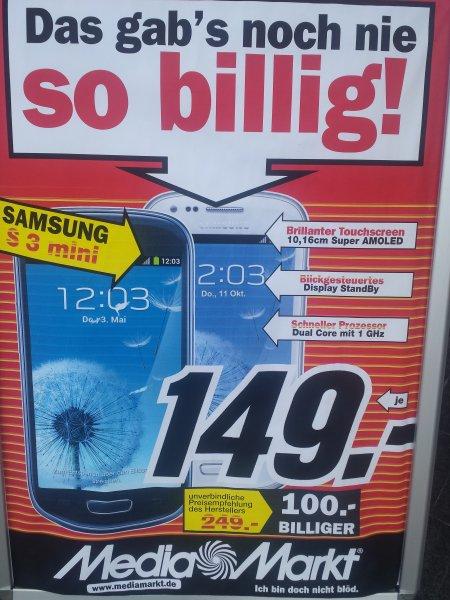 S3 mini für 149€/ S3 für 199€ @ MM Heppenheim