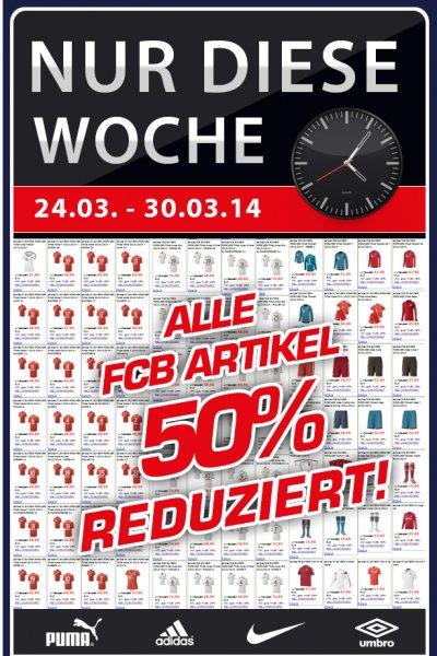50% auf Alle Bayern München Artikel