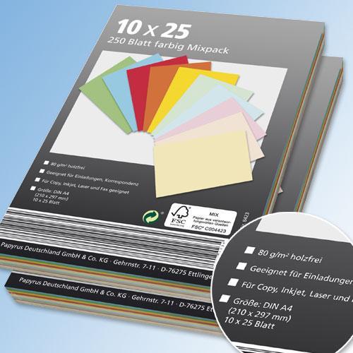 Farbiges Kopierpapier DIN A4 10x25 bei Aldi Nord, ab Montag, 11. Juli