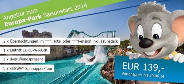 Europa-Park Angebot zum Saisonstart 2014