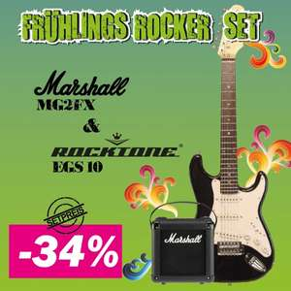 Gitarre & Marshall Amp Set