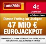 Wieder da! 4€ Cashback bei Qipu für Registrierung + 4€ Gutschein bei Lotto24 (mind. 6,60€) Tipp24 ? Lotto24