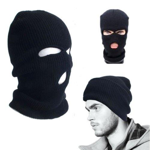 Unisex Ski Maske, Bankräuber Sturmhaube in schwarz für 1,59 Euro incl. Versand aus China