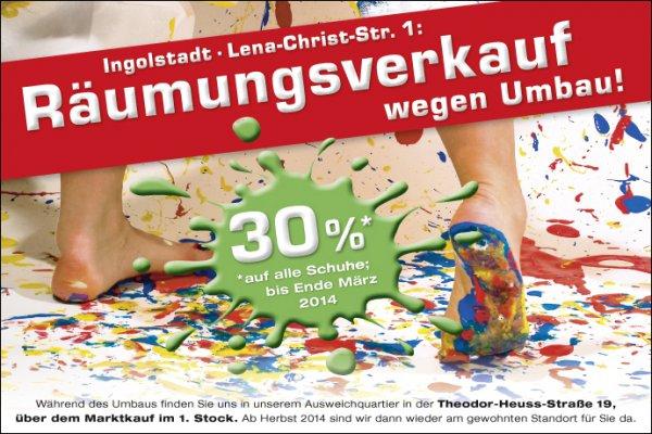 [Ingolstadt] Schuh Mücke mit -30% auf ALLE Schuhe und -50% bzw. -70% auf bereits reduzierte.