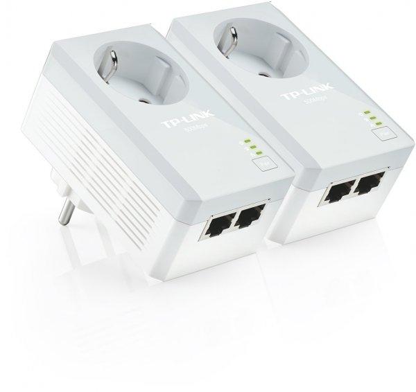 TP-Link  KIT Powerline-Netzwerkadapter (500Mbps, 2-Port, integrierte Steckdose, 2-er Set)   49,95