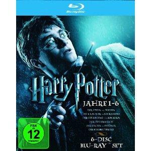 Harry Potter - Die Jahre 1-6 (exklusiv bei Amazon.de) [6 Blu-rays] @ amazon für 32,97
