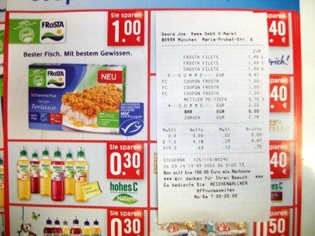 [V-Markt] Frosta feine Fillets 0,49 €