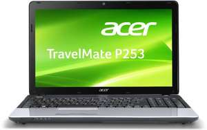 Acer TravelMate P253-E-10054G50Mnks 39,6 cm (15,6 Zoll) Notebook (Intel Celeron 1005M, 1,9GHz, 4GB RAM, 500GB HDD, Intel HD 3000, DVD, Win 8) schwarz