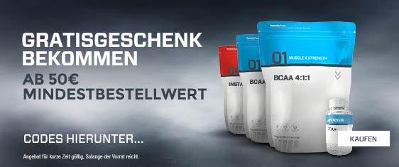 BCAA 4:1:1 und andere bei Myprotein gratis ab 50€ / Im Idealfall über 25% Rabatt