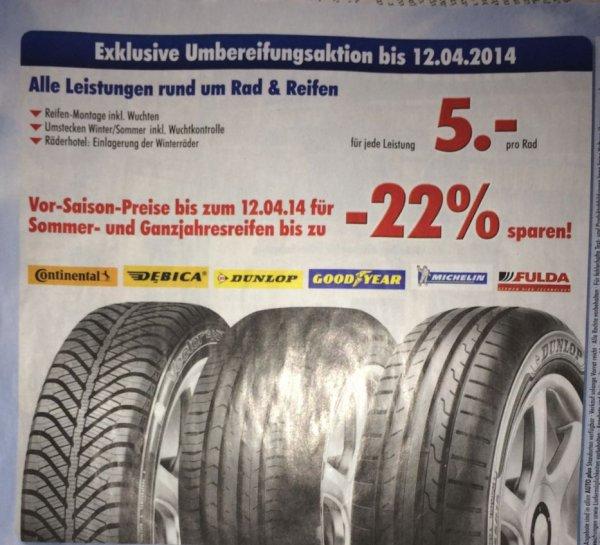 [Lokal - Bielefeld] Reifenmontage bei Auto-Plus für 5 Euro
