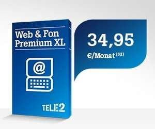 Tele2 Internet via Funk: Web & Fon Premium XL mit 75 € Cashback