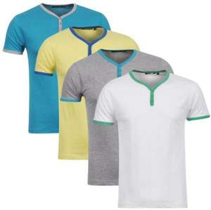 Mens Bravesoul 4 Pack Blade T-shirt - Grey/White/Yellow/Blue