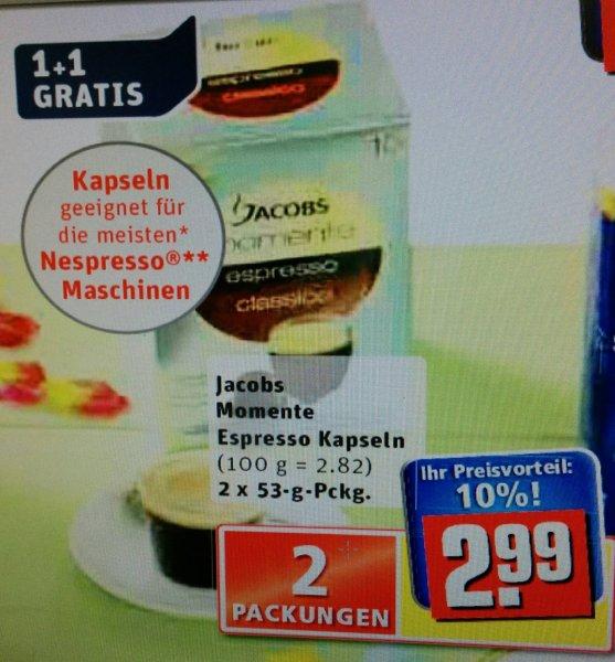 Rewe :Jacobs Momente Espresso Kapseln 1 Kaufen 1 Gratis