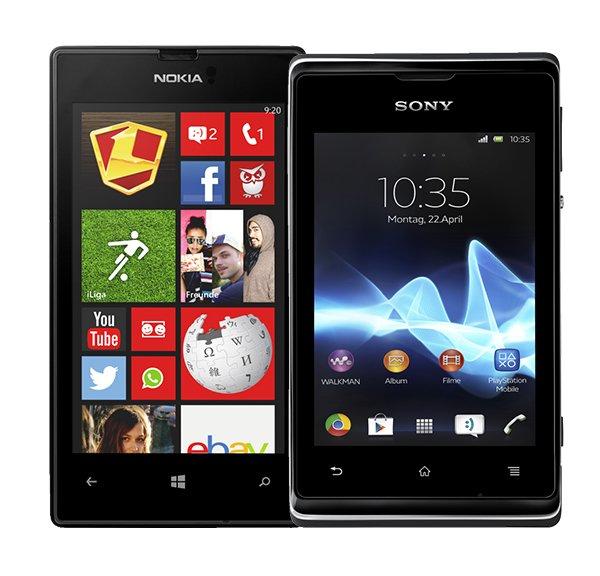 20 € Rabatt auf Nokia Lumia 520 & Sony Xperia E bei Vodafone CallYa
