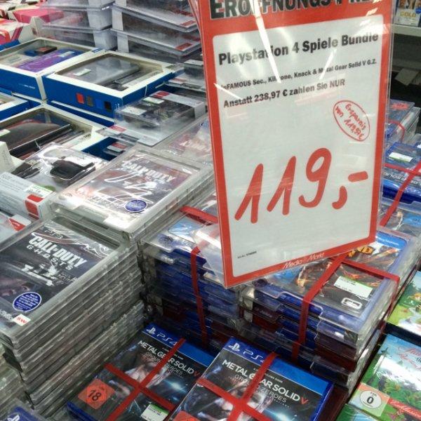 Playstation 4  Spiele Bundle für 119€