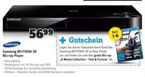 Conrad Filiale: Samsung BD F5500 3D BluRay Player + BluRay Fast and the Furious 1-6 (Eintauschwert ca. 24€)