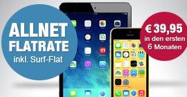 Original Complete M für Normalos inkl. iPhone 5C 32GB (gelb) + iPad Mini Retina 16GB bei Logitel für 1168,80€