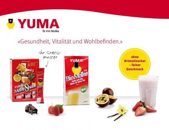 [SCHWEIZ] 3 Gratis Molke Produkte nach Wahl von Yuma