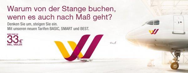 Germanwings Spartickets für 33 Euro bis Sonntag