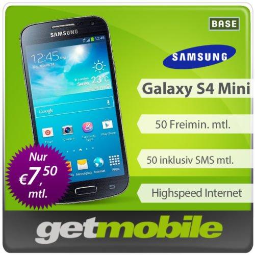 Samsung S4 Mini für 189€, inkl. Base Tarif mit Freiminuten, FreiSMS und Internet