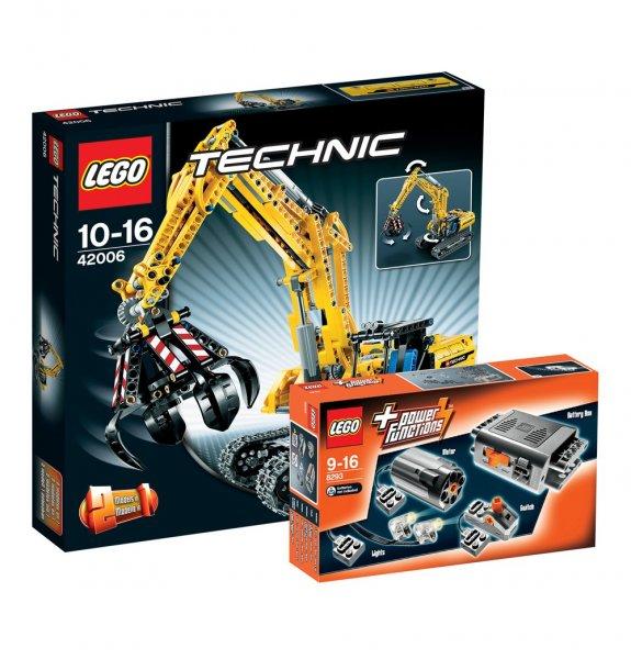 Lego TEchnic Raupenbagger 42006  +  Power Functions 8293 für 62,99 €