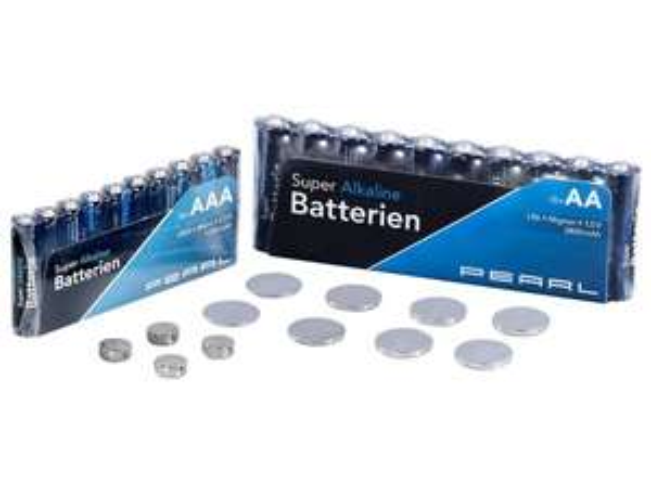 PEARL Batterie-Set 32-teilig 0Euro nur Versandskosten