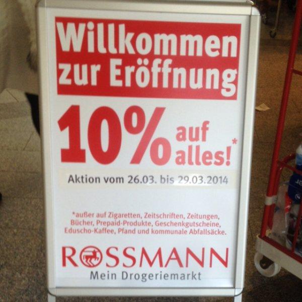 [Stuttgart-Bad Cannstatt] 10% auf alles bei Rossmann