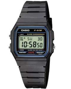[AMAZON MP (Prime)] Casio F-91W-1YEF LCD-Retro-Klassiker