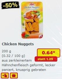Nicht vergessen !!! . . . HEUTE gibt es bei Netto (Ohne Hund) 200gr. Chicken Nuggets für Sensationelle 64 cent