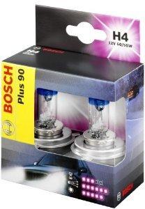Amazon Bosch Autolampenset H4 Plus +90, Doppelbox für 9,70€
