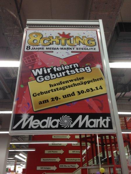 (Lokal Berlin) 8 Jahre Media-Markt Berlin Steglitz etliche Deals!!! z.B. LG G2 32GB 368,- Euro (idealo: 429,- Euro)