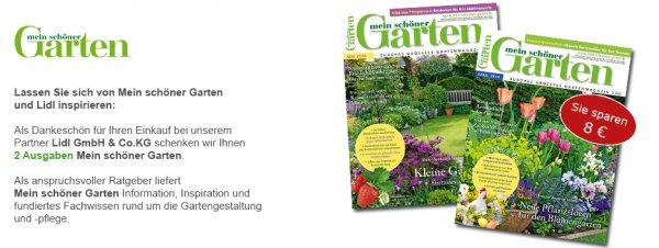 """2 Ausgaben """"Mein schöner Garten"""" kostenlos und unverbindlich"""