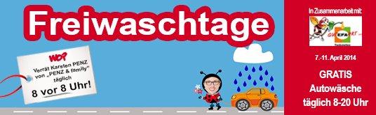 [Regional Karlsruhe] Freiwaschtage - 5 Tage lang täglich kostenlos in die Waschanlage