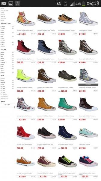Verschiedene Converse Schuhe Chucks ab ca 29 Euro bei USC